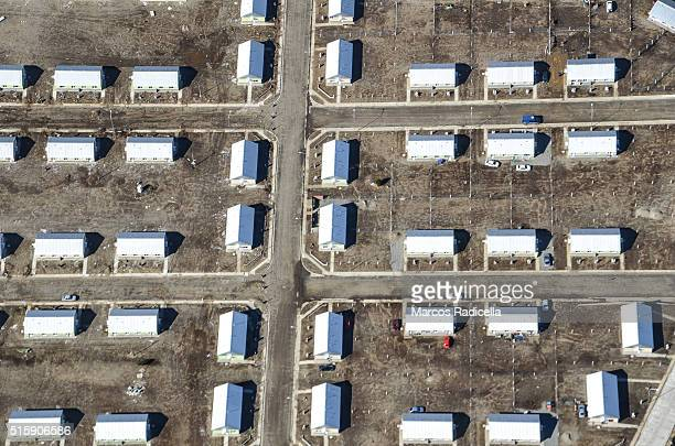 bariloche aerial view of social housing ,rio negro, argentina - radicella stock pictures, royalty-free photos & images