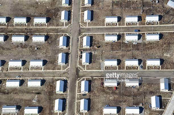 bariloche aerial view of social housing ,rio negro, argentina - radicella - fotografias e filmes do acervo
