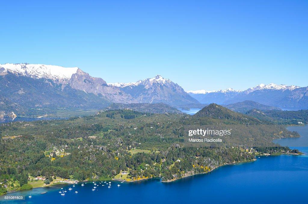 Bariloche, aerial view : Stock Photo