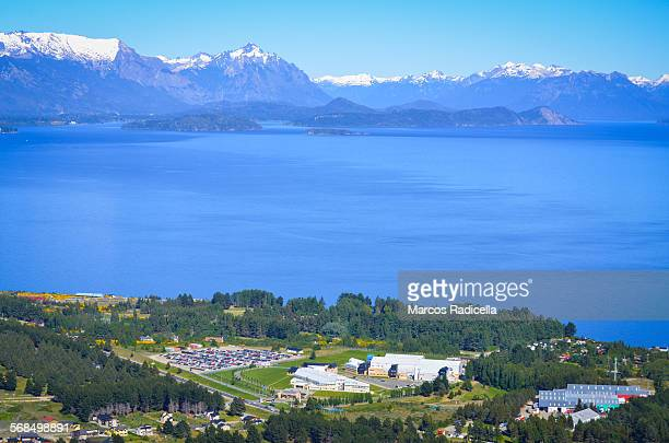 bariloche aerial view - radicella stock pictures, royalty-free photos & images