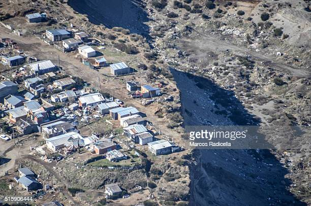 bariloche aerial view, province of rio negro, argentina - radicella stock pictures, royalty-free photos & images
