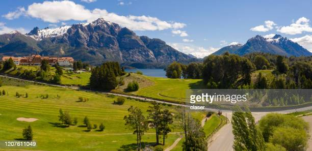 bariloche area  views - bariloche stock pictures, royalty-free photos & images