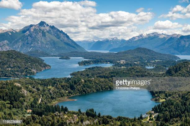 bariloche, argentina in the beautiful andes mountains and lake district - bariloche stock pictures, royalty-free photos & images