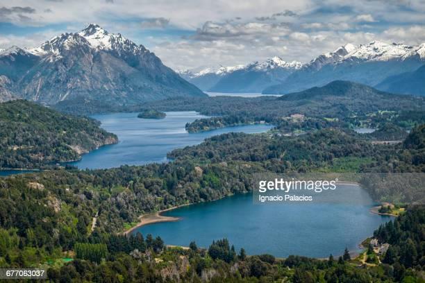 bariloche lookout, cerro campanario - bariloche stock pictures, royalty-free photos & images