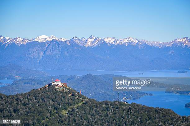 bariloche, mount otto and nahuel huapi lake - radicella stock photos and pictures