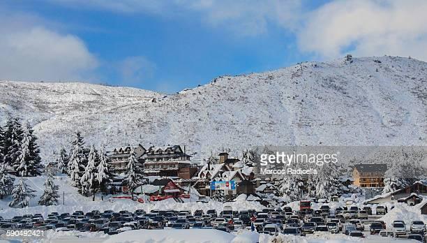 bariloche ski resort, patagonia argentina - radicella stock pictures, royalty-free photos & images