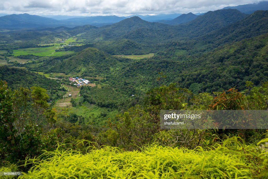 Bario is a community of 13 to 16 villages located on the Kelabit Highlands in Miri Division, Sarawak, Malaysia. : Stock Photo