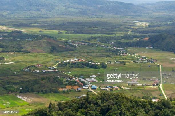 bario is a community of 13 to 16 villages located on the kelabit highlands in miri division, sarawak, malaysia. - shaifulzamri fotografías e imágenes de stock