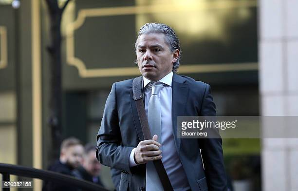 Baris Ozkaptan former trader of Citigroup Inc arrives for an employment tribunal hearing in London UK on Tuesday Nov 29 2016 Ozkaptan fired amid a...