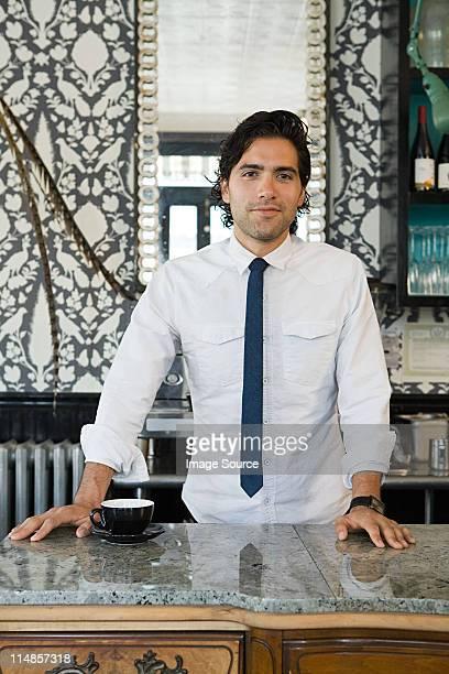 barista at coffee shop - ネクタイ ストックフォトと画像