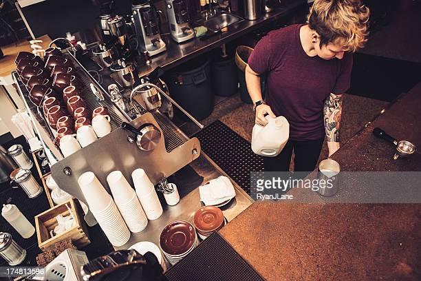 Barista Coffee préparation