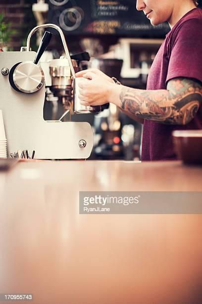 Barista Espresso Preparation