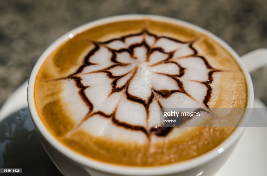Barista Making A Cup Of Coffee Soft Focus Image Stock Photo
