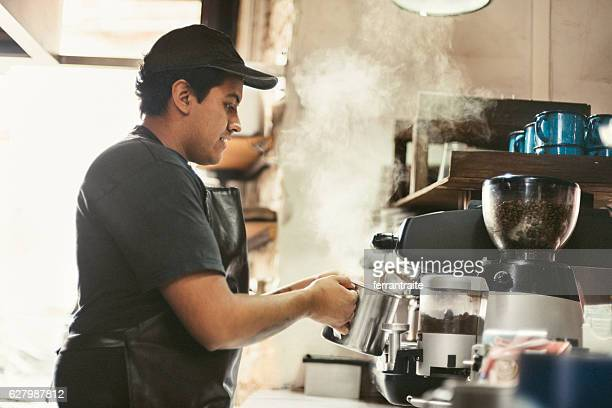 Barista Making Fresh Coffee