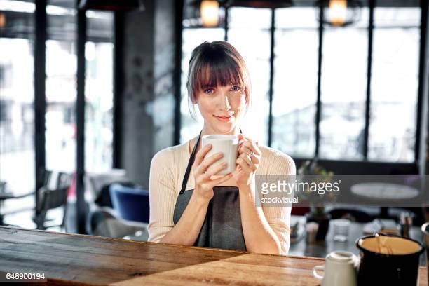 Portrait de barista café.