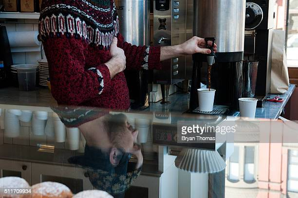 A barista pours a cup of coffee at Colson Patisserie on February 22 2016 in the Brooklyn borough of New York City A recently released study found...