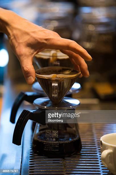 A barista prepares a hand drip coffee at the Terarosa Coffee shop in Seoul South Korea on Tuesday Feb 4 2014 South Korea is Asias fastestgrowing...