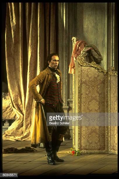 Baritone Dwayne Croft as Count Almaviva in Mozart's Le Nozze di Figaro on stage at the Metropolitan Opera