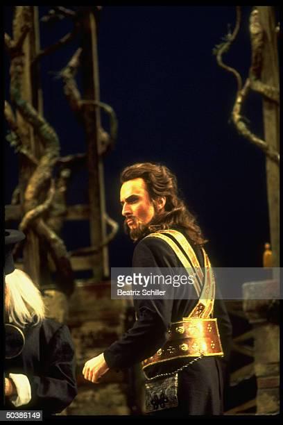 Baritone Dwayne Croft as Guglielmo in Mozart's Cosi Fan Tutte on stage at the Metropolitan Opera