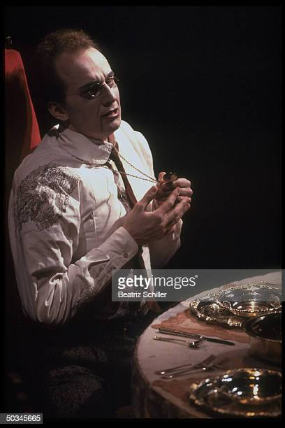 Baritone Dwayne Croft as Roderick in production of The Fall of the House of Usher by Philip Glass Richard Foreman on stage at the Metropolitan Opera