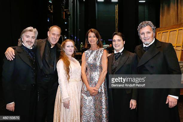 Baritone Ludovic Tezier musical Director Daniel Oren soprano Diana Damrau Chair of the Honorary Committee of the Gala Valerie Breton tenor Francesco...