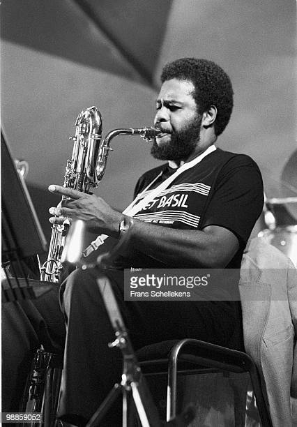 Baritone Sax player Charles Davis performs live on stage at the North Sea Jazz Festival in The Hague, Netherlands on July 12 1984
