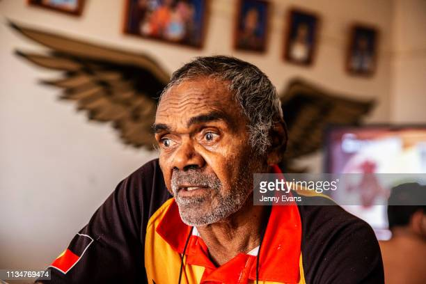 Barkandji elder Cyril Hunter looks on as he talks about the Darling-Barka river on March 05, 2019 in Wilcannia, Australia. The Barkandji people -...