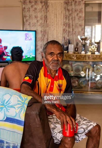 Barkandji elder Cyril Hunter poses for a portrait on March 05, 2019 in Wilcannia, Australia. The Barkandji people - meaning the river people - live...