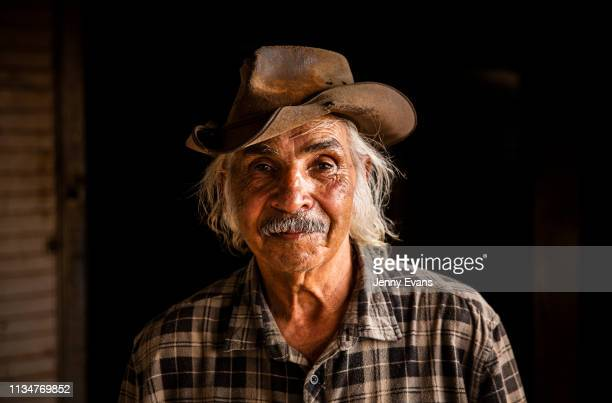 Barkandji elder Waddy Harris poses for a portrait at his home on March 05, 2019 in Wilcannia, Australia. The Barkandji people - meaning the river...