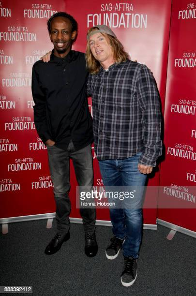 Barkhad Abdi and Bryan Buckley attend SAGAFTRA Foundation's Conversation and screening of 'The Pirates Of Somalia' at SAGAFTRA Foundation's screening...