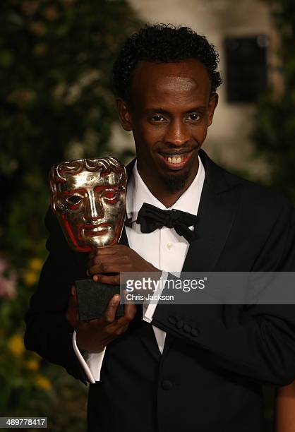 Barkhad Abdi attends an official dinner party after the EE British Academy Film Awards at The Grosvenor House Hotel on February 16 2014 in London...