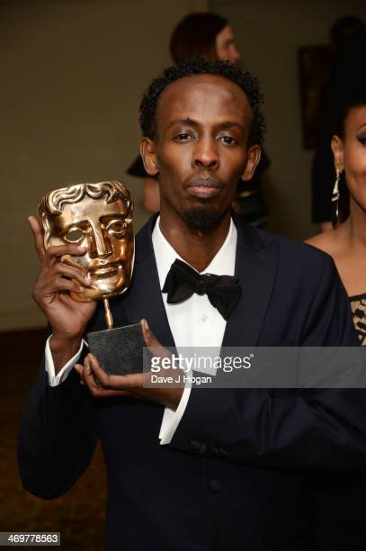 Barkhad Abdi attends the EE British Academy Film Awards 2014 after party at The Grosvenor House Hotel on February 16 2014 in London England