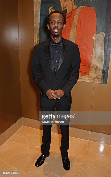 Barkhad Abdi attends the London Critics' Circle Film Awards at The Mayfair Hotel on February 2 2014 in London England