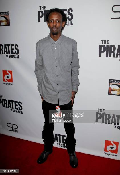 Barkhad Abdi attends the premiere of 'The Pirates Of Somalia' at TCL Chinese 6 Theatres on December 6 2017 in Hollywood California