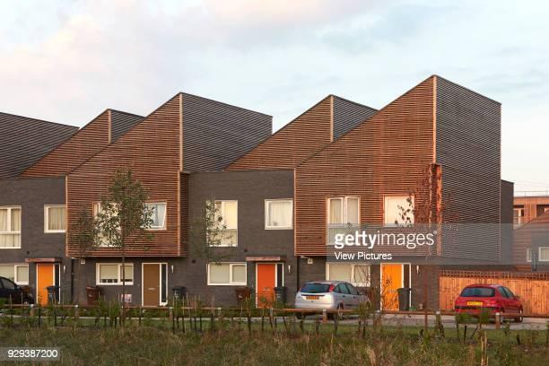 Barking Riverside Housing Development Barking United Kingdom Architect Sheppard Robson 2014 Monopitched housing