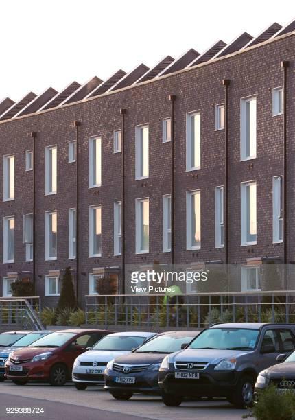 Barking Riverside Housing Development Barking United Kingdom Architect Sheppard Robson 2014 Brick clad housing facades