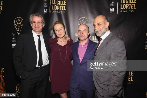 Barlett Sher Jennifer Ehle JT Rogers and Anthony Azizi attend 32nd Annual Lucille Lortel Awards at NYU Skirball Center on May 7 2017 in New York City