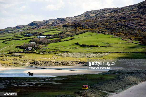 barleycove beach and rolling landscape, county cork, ireland - county cork stock pictures, royalty-free photos & images