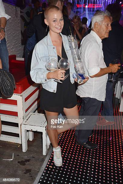 Barmaid Genevieve Howard Troll attends the Vincent Martin Wedding After Party at the Tsar Club in Saint Tropez on August 14 2015 in SaintTropez France