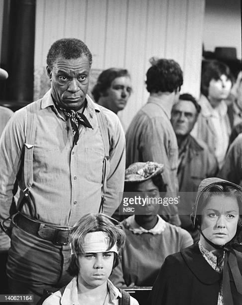 "Barn Burner"" Episodie 20 -- Aired 2/19/79 -- Pictured: Moses Gunn as Joe Kagan, Patrick Labyorteaux as Andrew 'Andy' Garvey, Karen Grassle as..."