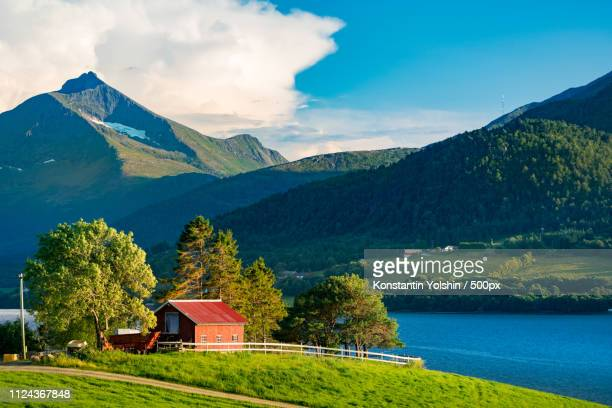 barn in norway europe. - traditionally norwegian stock pictures, royalty-free photos & images