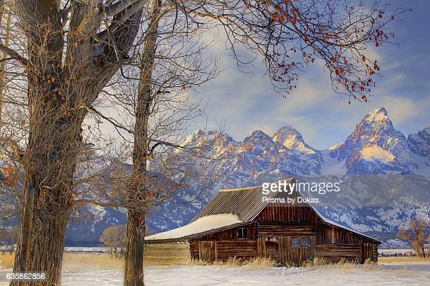 barn in Wyoming and Rocky Mountains