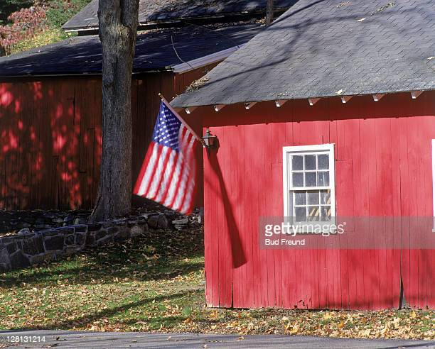 Barn w/ American flag, Westchester County, NY