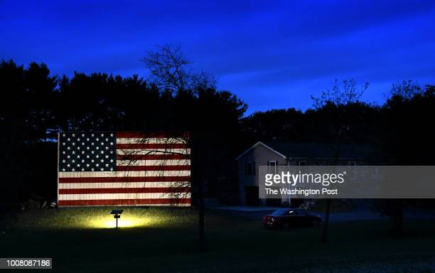 A barn with an huge American flag painted on it near Lebanon Pennsylvania There were also homes with Confederate flags flying nearby Some whites feel...