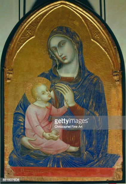 Barnaba Da Modena Italian School Virgin and Child Oil on wood panel 109 x 072 m Paris musee du Louvre