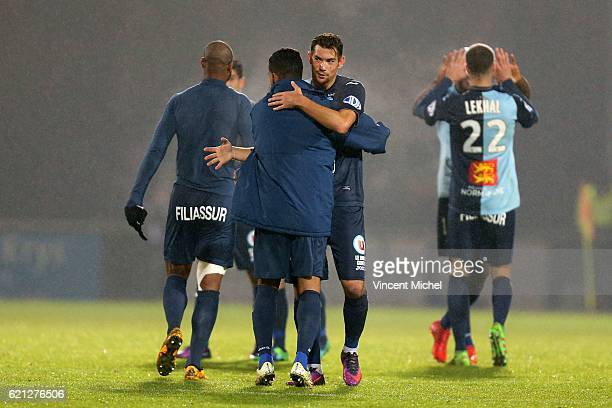 Barnabas Bese of Le Havre during the Ligue 2 match between Stade Lavallois and Le Havre AC on November 4 2016 in Laval France