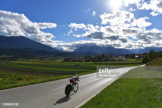 Barnabas Peak of Hungary / Landscape / clouqduring the Individual Time Trial Men Under 23 a 278km race from Wattens to Innsbruck 582m at the 91st UCI...