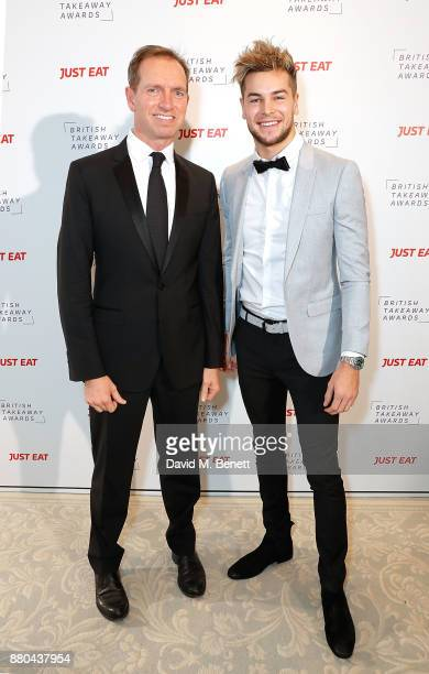 Barnaby Dawe and Chris Hughes attend the British Takeaways Awards in association with Just Eat at The Savoy Hotel on November 27 2017 in London...