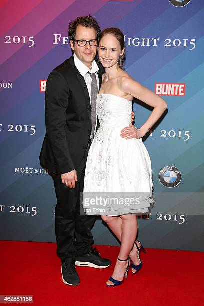 Barnaby Metschurat and Lavinia Wilson attend the Bunte BMW Festival Night 2015 on February 06 2015 in Berlin Germany