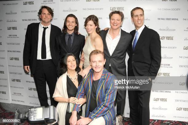 Barnaby Thompson, Ben Barnes, Sheridan Jobbins, Jessica Biel, Stephan Elliott, Colin Firth and James D. Stern attend THE CINEMA SOCIETY & THE WALL...